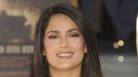 Salma Hayek Smiling Wet Lips Face Closeup